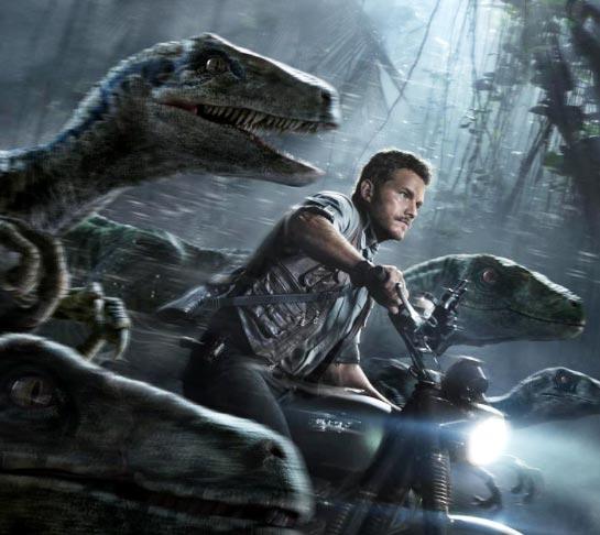 Chris Pratt and dino-friends