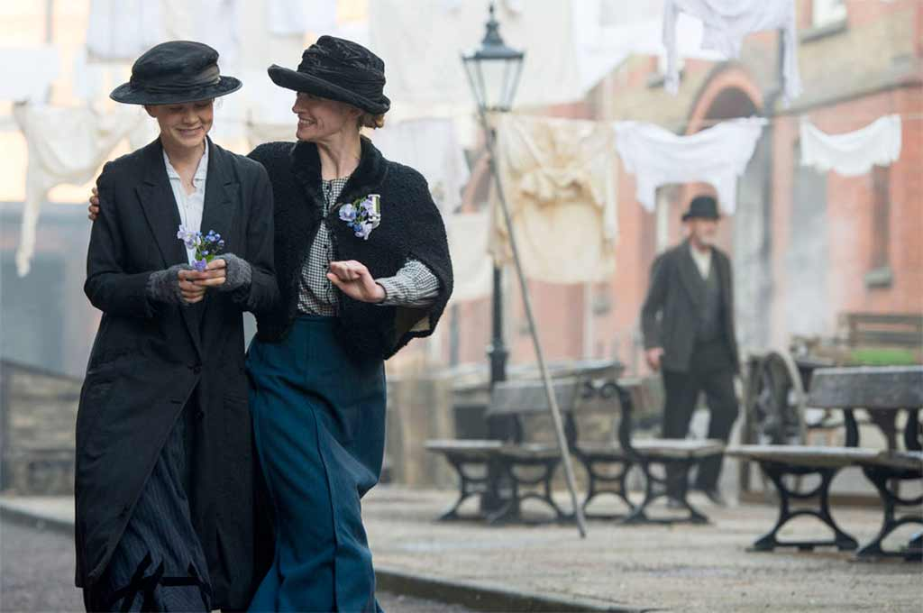 Anne-Marie Duff and Carey Mulligan in the movie Suffragette