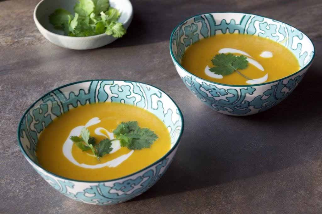 Inspired by a trip to Malaysia: Sweet Potato and Spicy Coconut Soup