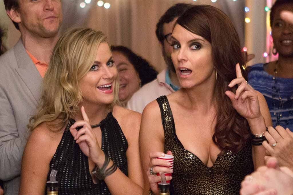Amy Poehler and Tina Fey as party animals in Sisters