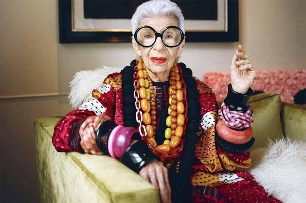 Style diva Iris Apfel