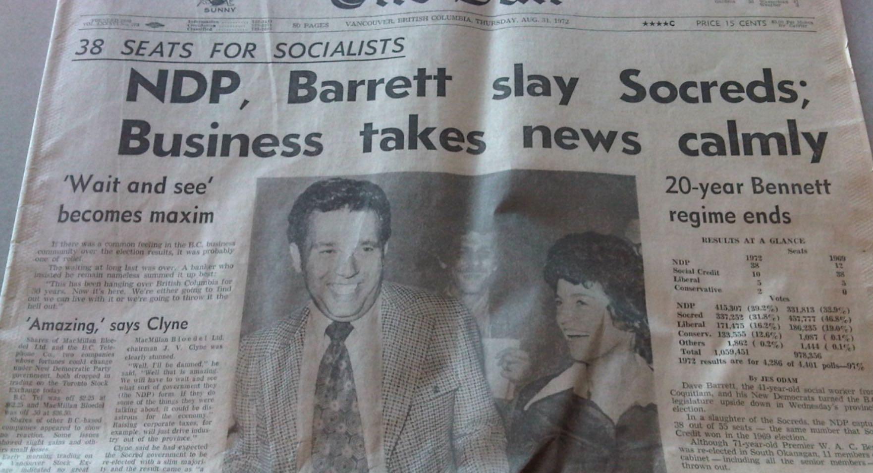 Barrett NDP BC Politics Vancouver Sun